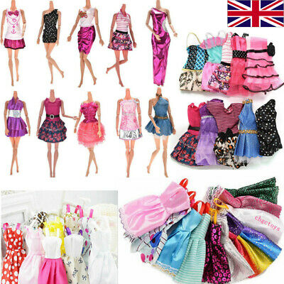 Dresses for Barbie Doll Fashion Party Girl Dresses Clothes Gown Toy Gift Kid ×10