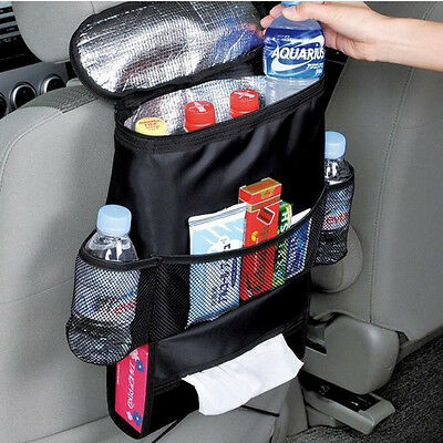 Car Seat Back Multi-Pocket Storage Bag Tidy Organiser Cool Hot Travel Holder ke