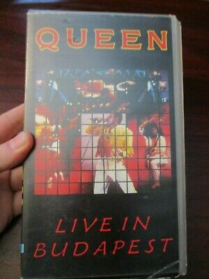Queen Live in Budapest VHS Video Tape (NEW)