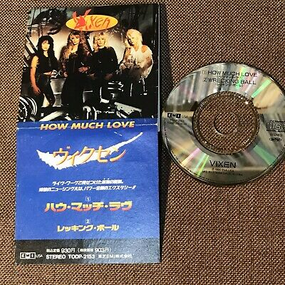 """VIXEN How Much Love /Wrecking Ball JAPAN 3"""" CD SINGLE TODP-2153 Snapped/Folded"""