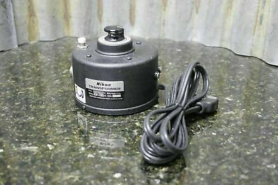 Nikon Microscope 6 Volt Variable Power Transformer 2 Plug Styles Tested FREE S&H