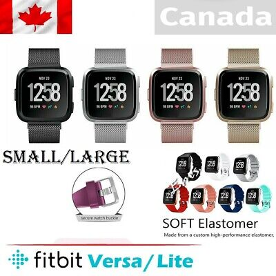 Replacement Silicone Band/Milanes Band For Fitbit Versa /Lite Sports  S-L CANADA