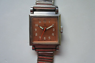 Vintage Helbros Art Deco pink Dial from the 40`s