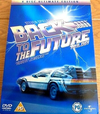Back To The Future Trilogy 4 Disc Ultimate Edition DVD UK PAL