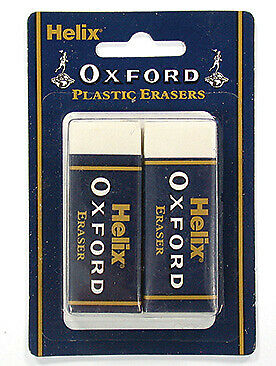 Helix Oxford - Twin Pack Large Sleeved Erasers (Y27012)