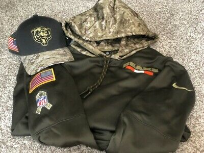 best authentic d77aa 29ff2 BRAND NEW NIKE Chicago Bears Salute To Service Hoodie NFL ...