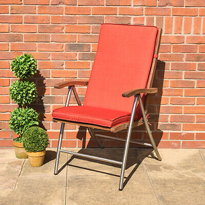 Highback Outdoor Dining Recliner Chair Pads Cushions Garden Patio Furniture Ties