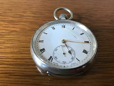 An antique 925 sterling silver one day pocket watch in working order, Swiss made