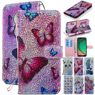 For Motorola Moto G7 Power G7 Play Phone Wallet Flip Case Magnetic Leather Cover