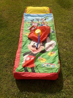 Child's Ready Bed, Blow Up Bed & Sleeping Bag In One, Mickie & Mini Mouse, VGC