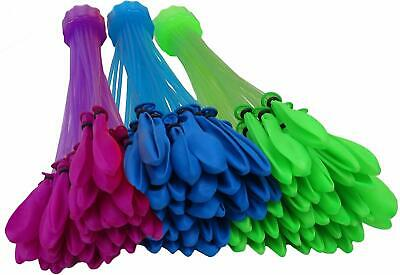 Quick Fill Balloons 3 Bunches Self Tie Water Balloons w/ Fillers + 3-Pack Refill