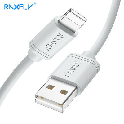 RAXFLY Lightning USB 2.4A Fast Charging&Sync Data Cable 0.3M/1M/2M For iPhone