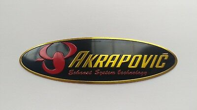 Akrapovic Metal Exhaust Can Sticker Heat Proof Yamaha Kawasaki Ducati Ninja UK