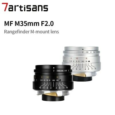 7artisans 35mm F2.0 Manual Fixed Lens for Leica M Mount Cameras M2 M3 M5 M4-2 ME