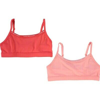 TOMMY HILFIGER GIRLS 2 Pack PINK Bralette SIZE 8 TO 10 YEARS NEW WITH TAGS