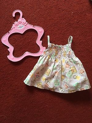 Excellent Condition Zapf Creation Baby Born Cute Travel Style Summer Dress