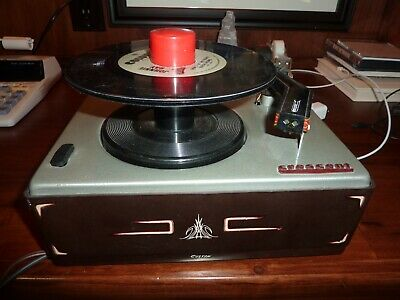 Custom Painted CRESCENT 45 RPM Phonograph Record Player Excellent Cosmetics