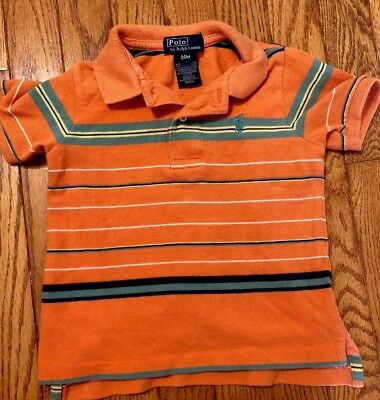 Polo Ralph Lauren Boys Toddler Polo Striped Knit Size 24 Mos Short Sleeves Multi