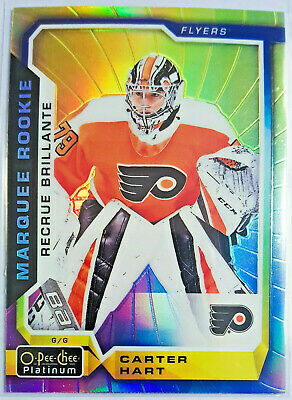 2018-19 Opc Platinum Rainbow Color Wheel Marquee Rookies Carter Hart E-Pack