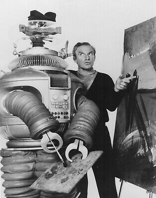 1965's LOST IN SPACE Dr. Smith criticizes Robot's painting b/w 8x10 portrait