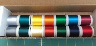 Madeira Rayon Embroidery Thread 200Meters 14 Spools Random Colors