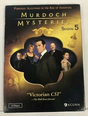 Murdoch Mysteries: Season 5 (DVD, 2013, 4-Disc Set) SEALED Ships Fast 🥑