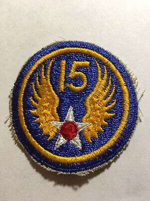 VINTAGE WW2 15TH US ARMY AIR FORCE  MILITARY PATCH WWII Original #070119