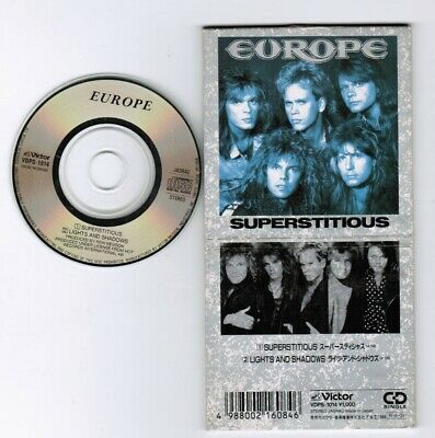 """EUROPE Superstitious /Lights And Shadows JAPAN 3"""" CD SINGLE VDPS-1014 1988 issue"""