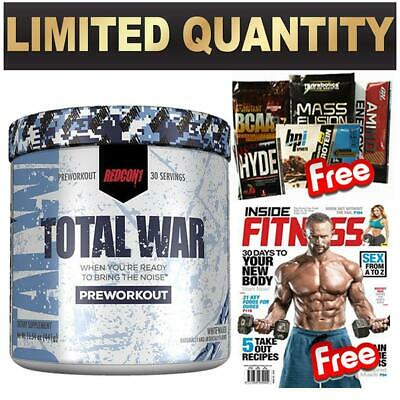 Redcon 1 Total War White Walker Pre Workout Powder Limited Edition 30 Serve Mag