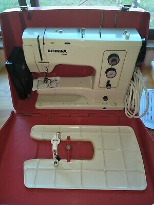 Vintage bernina record 830 sewing machine big red case great working condition