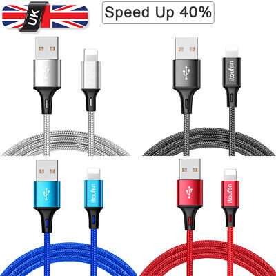 Upgrade 3A Lightning Sync Data USB Cable Charging Cord Apple iPhone X  XR Xs Max