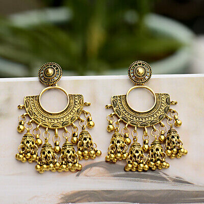 Fashion Women Charm Jhumia Gypsy Indian Carved Drop Bohemia Earrings Jewelry New