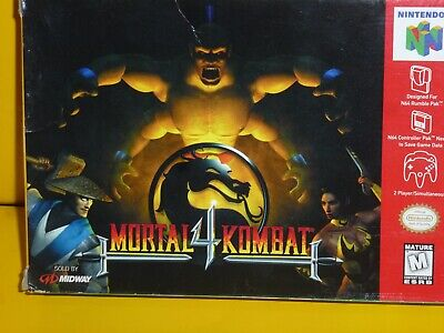 MORTAL KOMBAT4 Authentic Original Box & Inserts ONLY NO Game