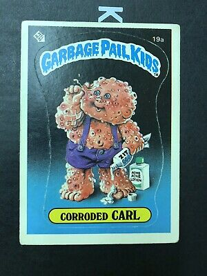 Garbage Pail Kids 1st Series 19a Corroded Carl Matte Very Good Condition 1985