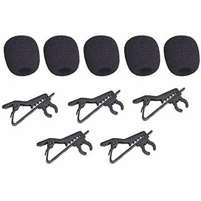 Lavalier Microphone Lapel Clip And Foam Windscreen Cover, 5 Packs Replacement,