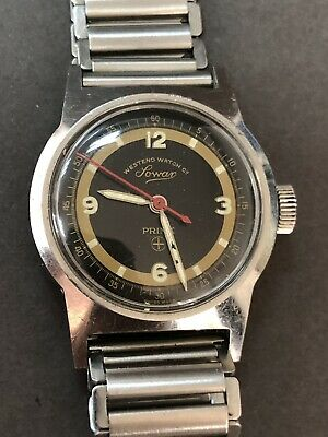 Vintage Military WEST END WATCH CO PRIMA Sowar MECHANICAL MOVEMENT SS WATCHES R5