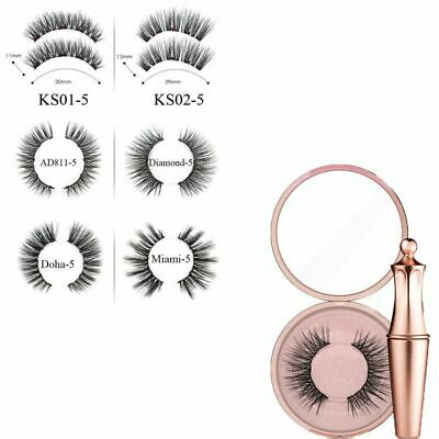 Magnetic Eyeliner with Five Magnetic False Eyelashes Waterproof Lashes Sets UN