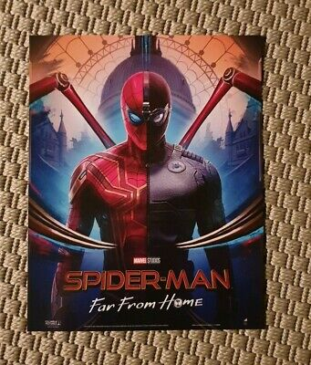 Spiderman Far From Home Movie Poster Print A4ish Original Odeon IMAX launch NEW