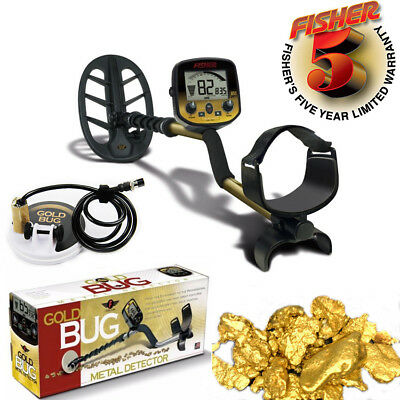 """Fisher Gold Bug Pro Detector Metal Detector Gold scanner with 5"""" and 10"""" coils"""