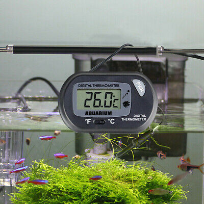 LCD Tank Meter Water Thermometer  Digital Aquarium Fish Reptile Fridge Freezer