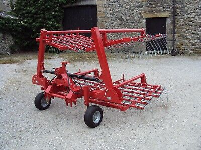 Jarmet 6m hydraulic folding spring tine grass harrow / weeder Opico Browns
