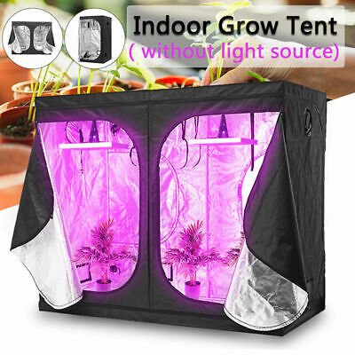 Hydroponic Grow Tent 600D Silver Mylar Non Toxic Plants/Veg/Flower Protection