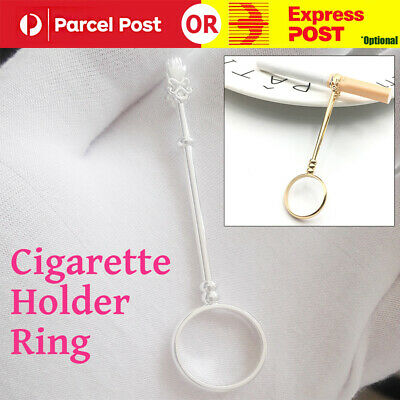 Women Men Cigarette Holder Ring Innovative Premium Hand Free Finger Smoking