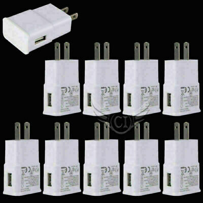 10pcs Home Wall Charger USB Adapter 5V 2.0A AC For Samsung Android US Plug New