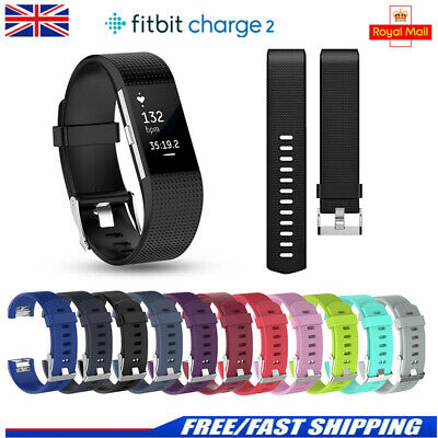 Silicone Replacement Strap For Fitbit Charge 2 Sports Wrist Band Small Large
