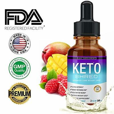 Lux Supplement Keto Shred Drops Liquid Advanced Carb Weight Loss - Raspberry Ket