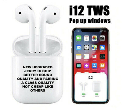 i12 TWS Bluetooth 5.0 Earphone Wireless Smart Touch Control Earbuds Airpods
