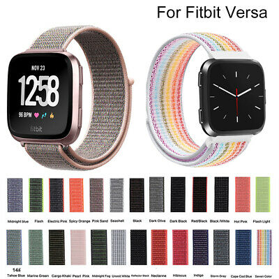 For Fitbit Versa Woven Nylon Loop Strap Bracelet Sport Replacement Watch Band