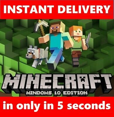 Minecraft Windows 10 Edition 🔥Instant Delivery 🔥5 seconds in your email🔥🔥🔥