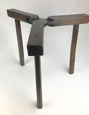 Victorian Folding Table / Barrel Holder Legs / Wooden / Antique / RARE Furniture